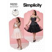 Full slip and petticoat. Simplicity 9293.