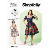 Dress. Simplicity 9294.