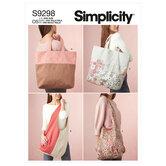 Market Tote Bags. Simplicity 9298.