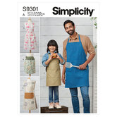 Kids and adults aprons. Simplicity 9301.