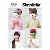 Childrens Headbands, Hat and Face Coverings. Simplicity 9305.