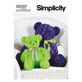 Plush Bears in Two Sizes. Simplicity 9307.