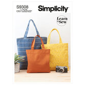 Tote Bags in Three Sizes. Simplicity 9308.