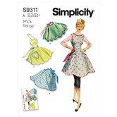 Vintage Aprons. Simplicity 9311.
