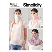 Fashion Face Covers. Simplicity 9313.