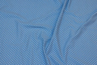 Sky-blue cotton-jersey with small white dots