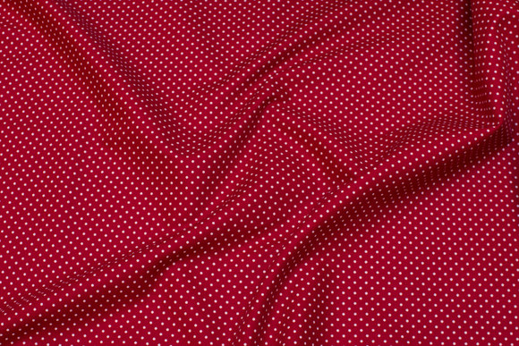 Dotted cotton in red and white