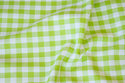 Summer-cotton in lime-green with 1 cm checks