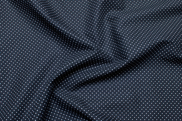 Tightly-dotted cotton in black and white