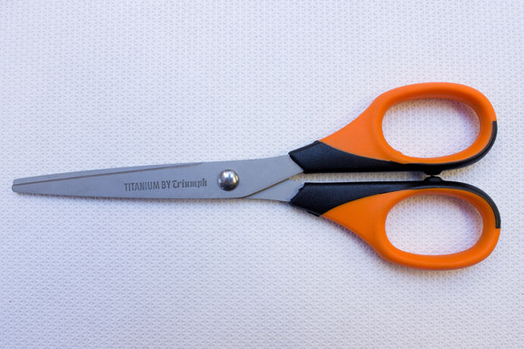Titanium coated scissors 16.5 cm