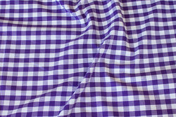 Summer cotton in purple with 1 cm checks