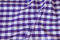 Summer cotton in purple with 1 cm checks