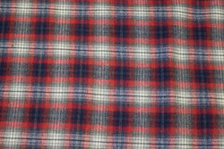 Winter shirt-checks in red and navy