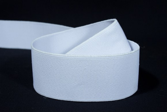White, firm quality elastic 4 cm wide