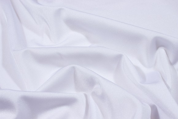 White stretchlycra for cyclingshorts, swimsuits etc.