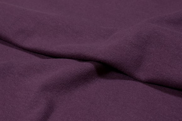 Dusty prune-purple rib-fabric