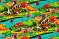 Cotton-jersey with fairytale land in beautiful colors