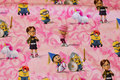 Pink and soft red cotton-jersey with minions. 19,96