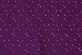 Red-purple cotton-jersey with 4 mm dots in pink and light-purple