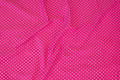 Pink cotton-jersey with small white 3 mm dots