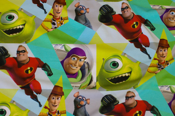 Cotton-jersey with Buzz Lightyear and others