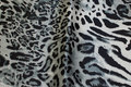 Stretch-satin with animal-print in black and grey