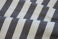 White sunchair fabric grey stripes, 4 cm stripes
