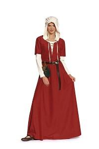Burda 7468. Dress and bonnet – Middle ages.