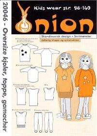 Onion pattern: Oversize dress, top, leggings