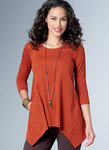 Loose Knit Tunics with Shaped Sides and Pockets