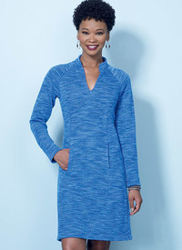 Butterick pattern: Knit Raglan Sleeve Tops and Dress, Vest, and Pull-On Pants
