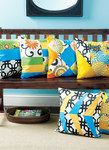 Pillow Covers with Contrast Front Sections