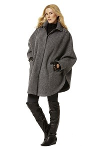 Cape, coat. Burda 7422.