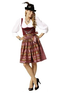 Dirndl dress. Burda 7443.