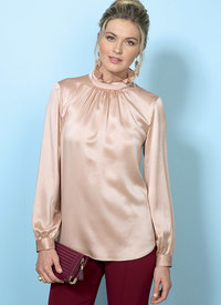 Tops with Gather-Detail Mock-Neck. Butterick 6487.
