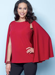 Butterick 6490. Tops with Cape and Sleeve Variations.
