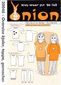 Oversize dress, top, leggings. Onion 20046.