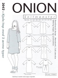 Dress-top with 2 sleeve types. Onion 2042.