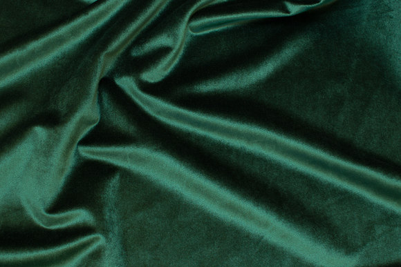 Beautiful bottle-green velvet with lightweight shiny surface