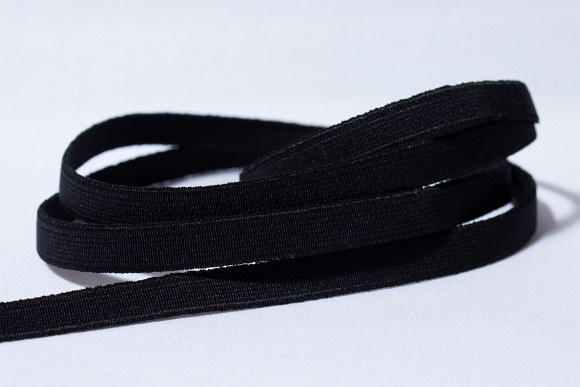 Black, firm quality elastic, 2 cm wide