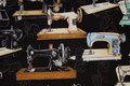 Black patchwork-cotton with symaskiner