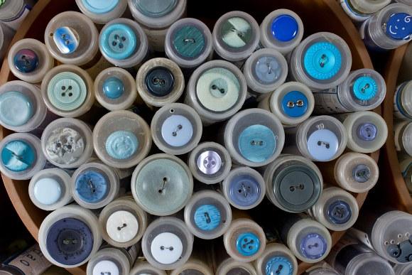 Blue buttons 9
