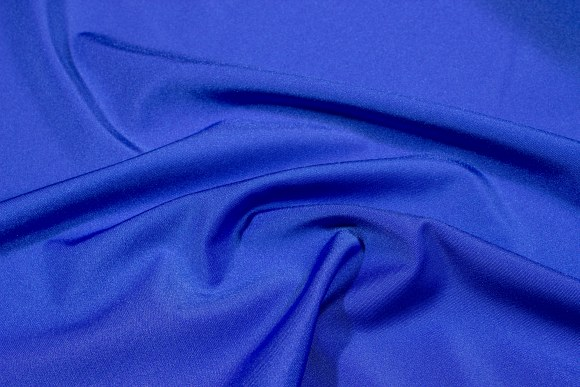 Blue stretchlycra for cyclingshorts, swimsuits etc.
