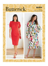 Dress with AB, C, D Cup Sizes. Butterick 6804.