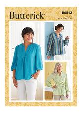 Top, tunic and sash. Butterick 6812.