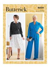 Jacket, Skirt and Pants. Butterick 6820.