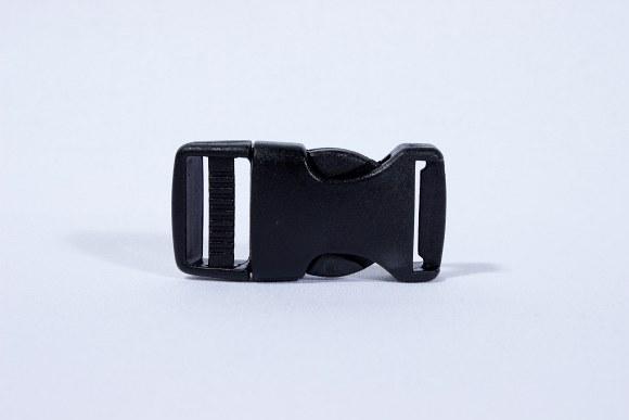 Click buckle black 2 cm wide
