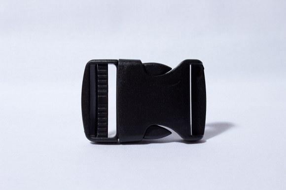Click buckle black 2.5 cm wide