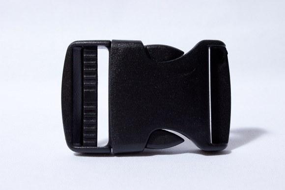 Click buckle black 4 cm wide