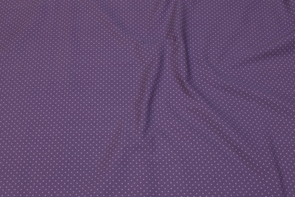 Dark dusty-purple cotton with small old rose 2 mm dots